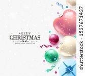modern christmas greeting card... | Shutterstock .eps vector #1537671437