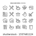 cooking bold line icon set. the ... | Shutterstock .eps vector #1537681124