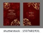 set of luxury floral wedding...   Shutterstock .eps vector #1537681931
