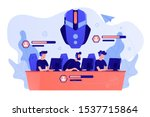 team of gamers controlling game ...   Shutterstock .eps vector #1537715864