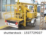 Yellow Hydraulic Lift ...