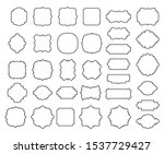 borders and frames collection ... | Shutterstock .eps vector #1537729427