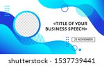 business conference banner... | Shutterstock .eps vector #1537739441