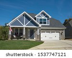 New American Stone Home With...