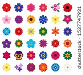 vector collection of colorful... | Shutterstock .eps vector #1537747931