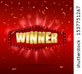 winner shiny banner with... | Shutterstock .eps vector #1537751267