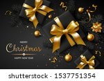 horizontal banner with gold... | Shutterstock .eps vector #1537751354