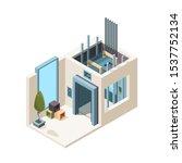 elevator room. building machine ... | Shutterstock .eps vector #1537752134