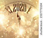 gold shiny bokeh new year 2020... | Shutterstock .eps vector #1537773104