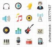 music icons   Shutterstock .eps vector #153777437