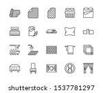 linen flat line icons set.... | Shutterstock .eps vector #1537781297
