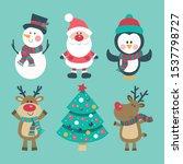 Christmas Set With Snowman ...