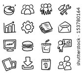collection  set of business... | Shutterstock .eps vector #153780164