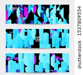 abstract banner template with... | Shutterstock .eps vector #1537809554