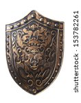 Old Decorative Shield Isolated...