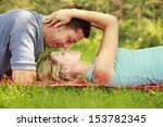 a young beautiful couple in... | Shutterstock . vector #153782345