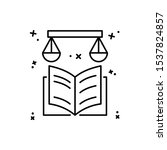 book libra icon. simple line ...