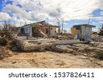 Small photo of Freeport, Grand Bahama Island, Bahamas - October 11 2019 : Eastern part of the Grand Bahama Island where most of the devastation occurred from Hurricane Dorian. View of destroyed homes.