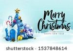 christmas banner. snowy... | Shutterstock .eps vector #1537848614