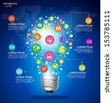 modern infographic template.... | Shutterstock .eps vector #153785111
