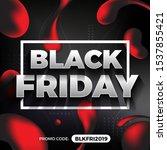 black friday promotion banner... | Shutterstock .eps vector #1537855421