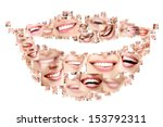 smile collage of perfect... | Shutterstock . vector #153792311