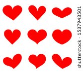 hearts vector set. vector... | Shutterstock .eps vector #1537943501