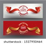 elegant grand opening... | Shutterstock .eps vector #1537950464