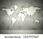 world map with continents... | Shutterstock . vector #153797069
