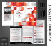 vector white brochure template... | Shutterstock .eps vector #153797645