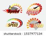 set of speed logo or... | Shutterstock .eps vector #1537977134