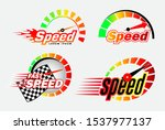 set of speed logo or... | Shutterstock .eps vector #1537977137