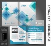 vector gray brochure template... | Shutterstock .eps vector #153798179