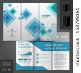 vector gray brochure template... | Shutterstock .eps vector #153798185