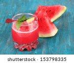 glass of fresh watermelon juice ... | Shutterstock . vector #153798335