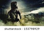 stalker against nuclear... | Shutterstock . vector #153798929