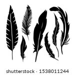 a set of silhouettes of... | Shutterstock .eps vector #1538011244