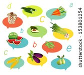 health fruit and vegetable.... | Shutterstock .eps vector #153801254
