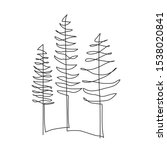 pine tree continuous line... | Shutterstock .eps vector #1538020841