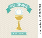 first holy communion card... | Shutterstock .eps vector #153803504