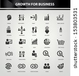 growth  finance and analysis... | Shutterstock .eps vector #153803531