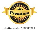 high quality golden badge | Shutterstock .eps vector #153803921