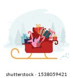 merry christmas and happy new... | Shutterstock .eps vector #1538059421