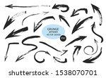 set of different grunge brush... | Shutterstock .eps vector #1538070701