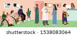 doctors and patients  at the... | Shutterstock .eps vector #1538083064