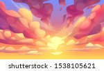 sunset or sunrise sky  nature... | Shutterstock .eps vector #1538105621