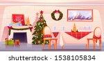 family christmas dinner  empty... | Shutterstock .eps vector #1538105834