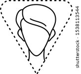 female triangle face shape... | Shutterstock .eps vector #1538113544