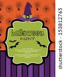 happy halloween card design.... | Shutterstock .eps vector #153812765