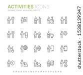 collection of people activities ... | Shutterstock .eps vector #1538139347
